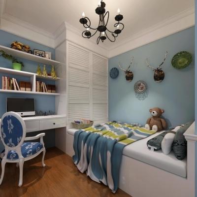 青城华庭85平两居室美式风格