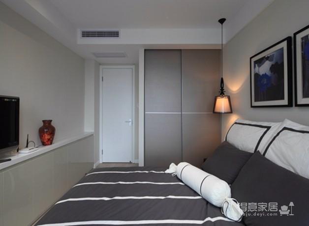 金地天悦3室1厅现代风格效果图图_6