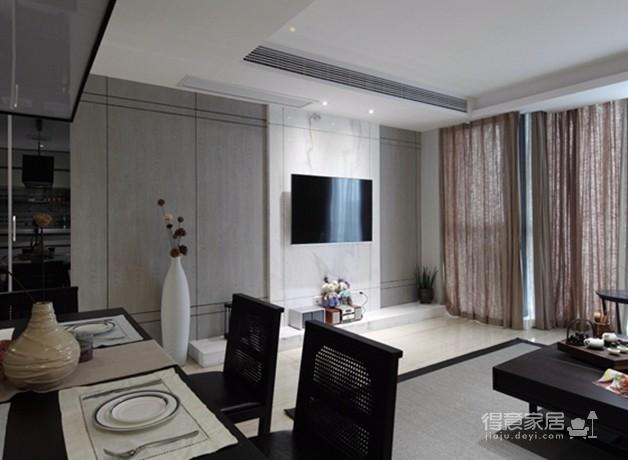 金地天悦3室1厅现代风格效果图图_10