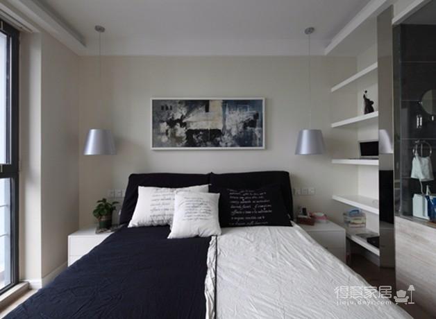 金地天悦3室1厅现代风格效果图图_4