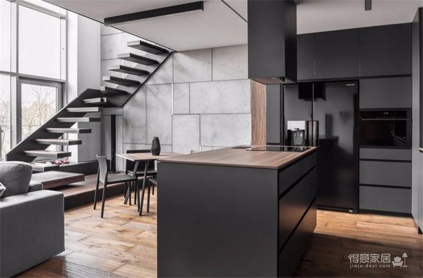 黑白灰高冷复式公寓