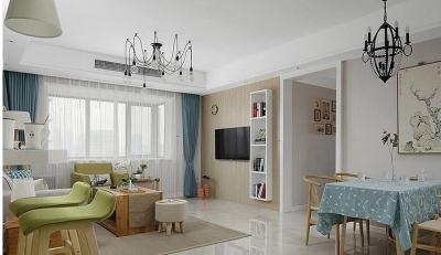 120平三居室 日式风格小清新格调