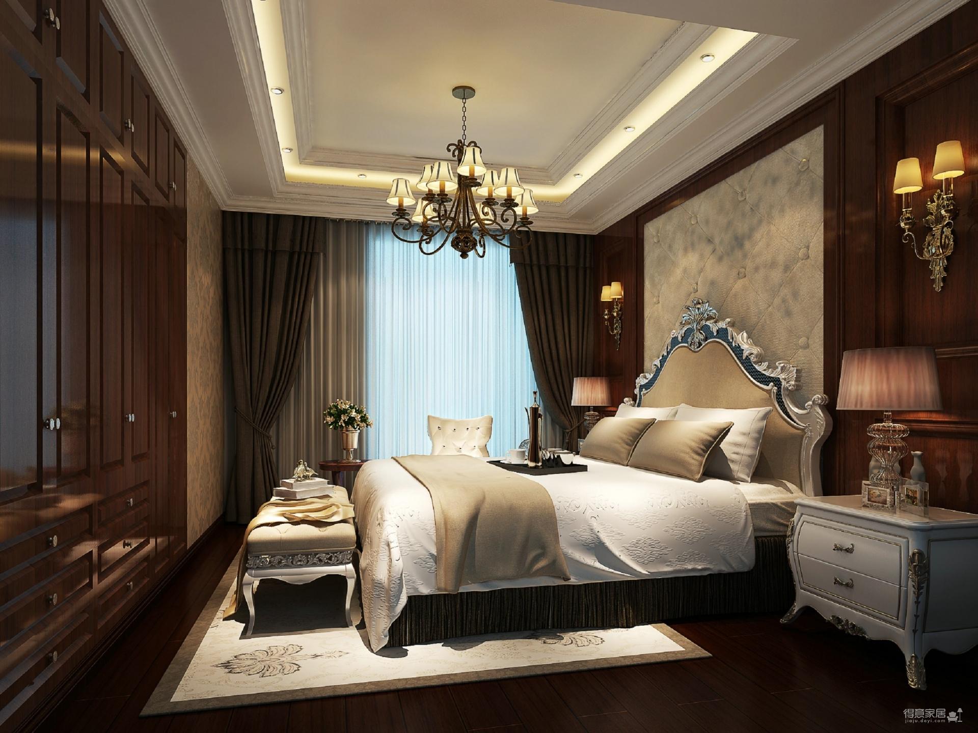 枫华锦都139平四居室新古典图_3