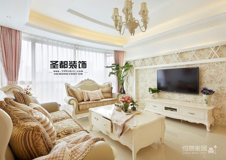 康都紫轩138平田园风格