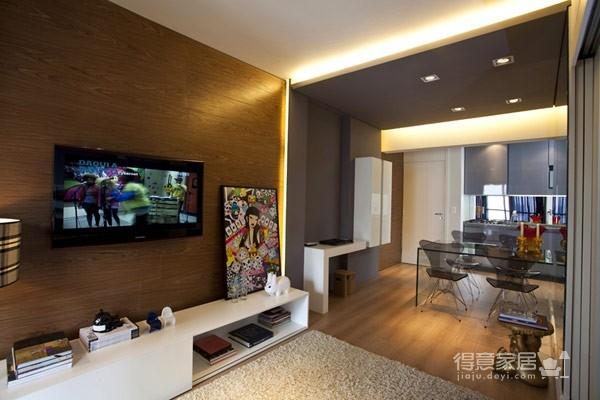 45平现代风格小户型公寓图_1