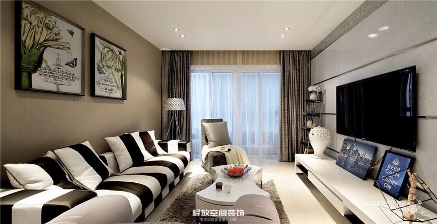 海赋江城  现代简约风格  118平图_1