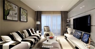海赋江城  现代简约风格  118平