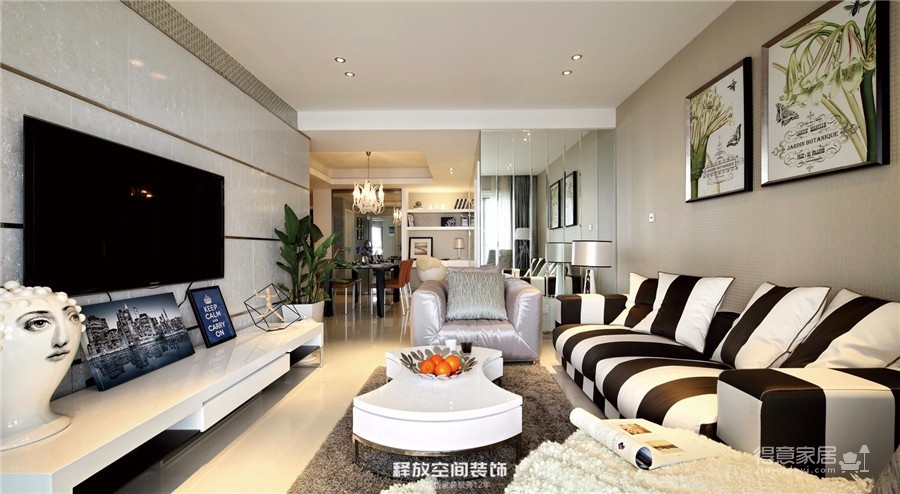 海赋江城  现代简约风格  118平图_2