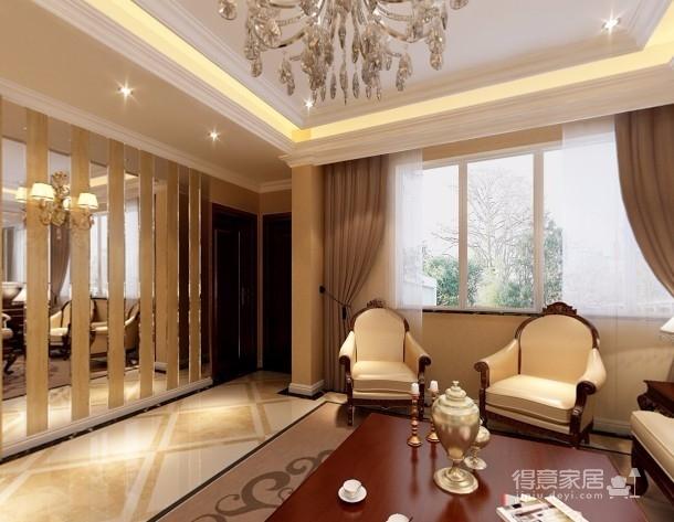 【武汉一号家居】大华南湖世家158平四居室简欧风图_4