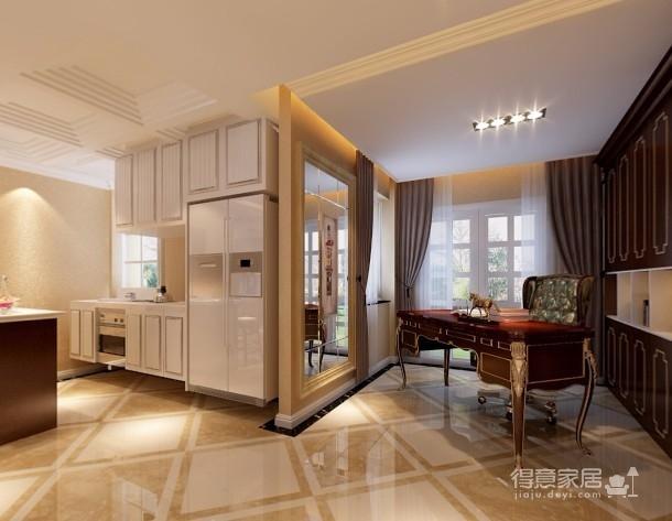 【武汉一号家居】大华南湖世家158平四居室简欧风图_5