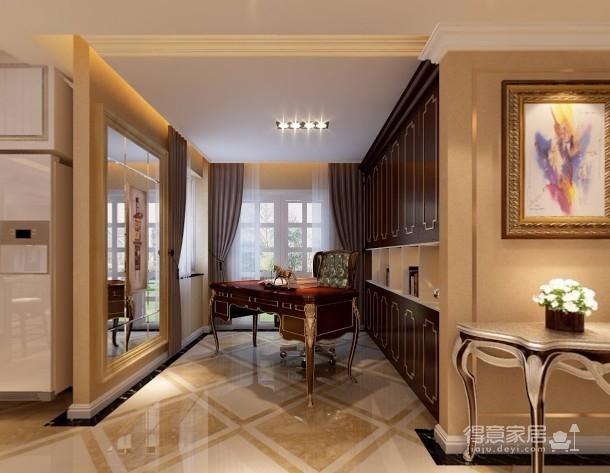 【武汉一号家居】大华南湖世家158平四居室简欧风
