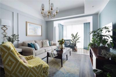 115平美式优雅三居室