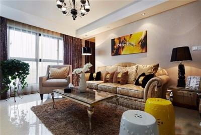 127平现代风格三居室