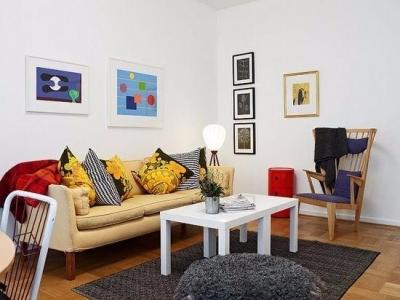 原木地板塑造北欧风格56平米旧公寓翻新