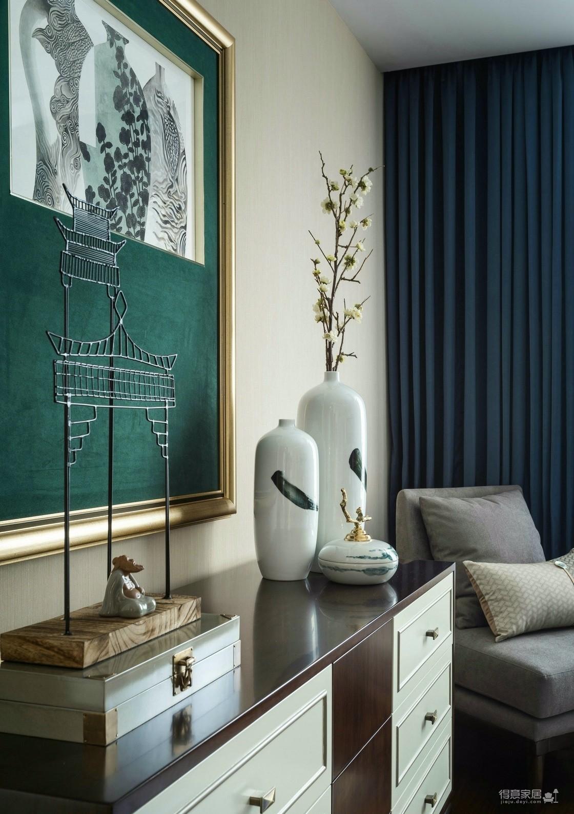 静谧素雅新中式风格公寓