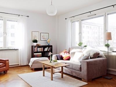 自然北欧风格89平原木复式公寓