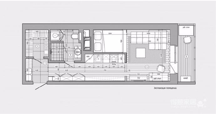 30㎡单身公寓图_5