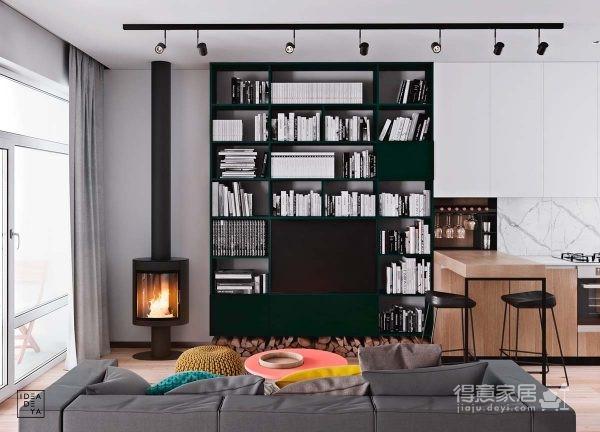 轻松舒适北欧风,114平米复式公寓设计