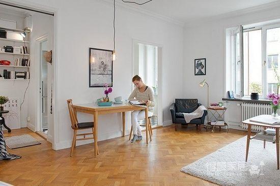 45㎡单身公寓的北欧小资情调