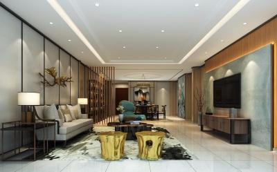 金色港湾10栋220平米新中式韵味设计