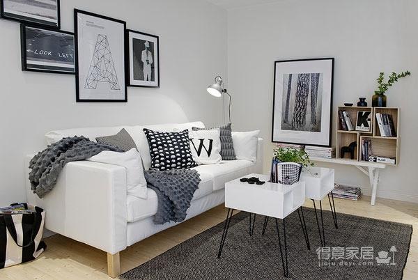 48平黑白配简约小公寓图_2