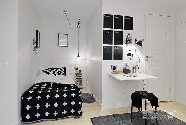48平黑白配简约小公寓图_7