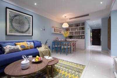 118平三室两厅现代简约风墨绿空间