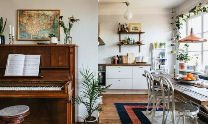 78平米两室两厅北欧风格图_4