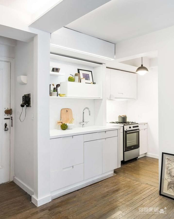 36平方简约温馨小公寓,精妙的空间利用