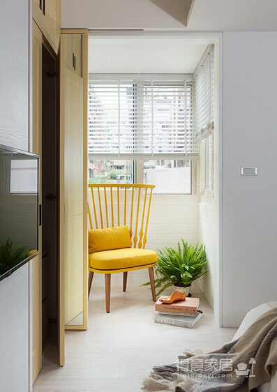台北田园风情温馨两居室设计