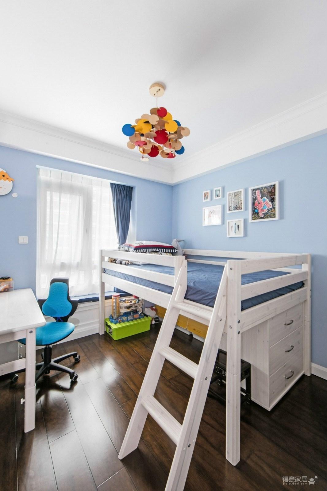 125平三室两厅一卫 美式+小轻奢图_10