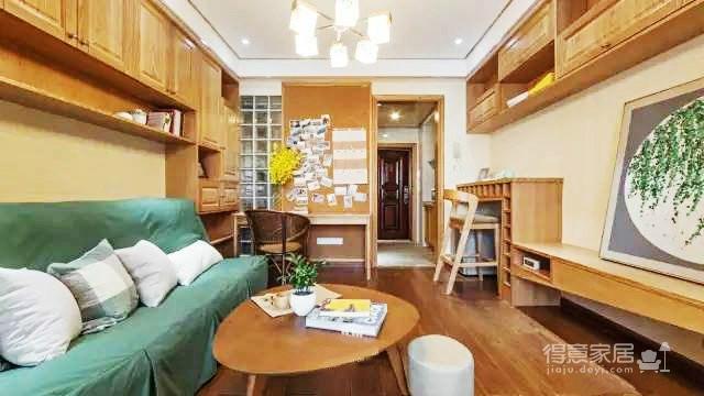 日式的简约风,房间40平图_1