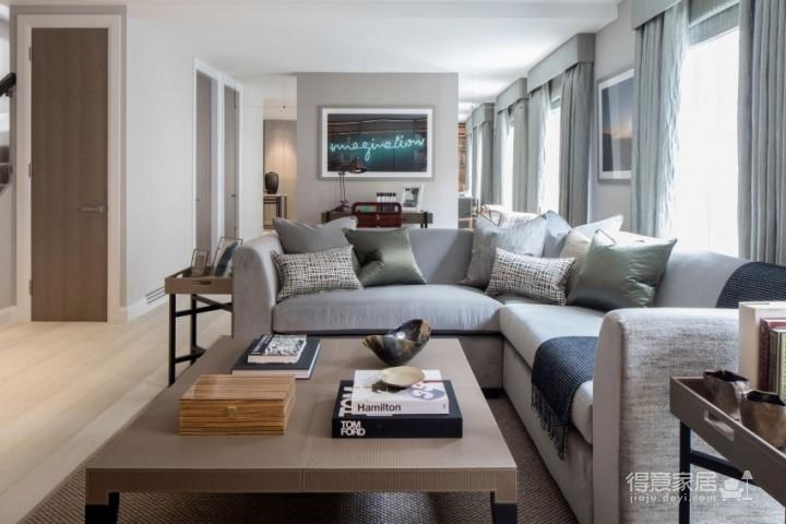 质感精致的美式风格两居室,设计优雅迷人图_1