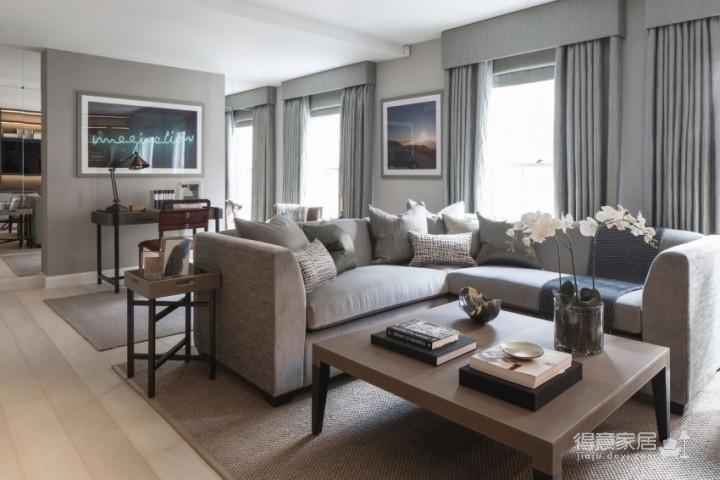 质感精致的美式风格两居室,设计优雅迷人图_2