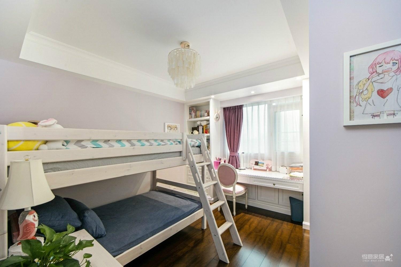 125平三室两厅一卫 美式+小轻奢图_9