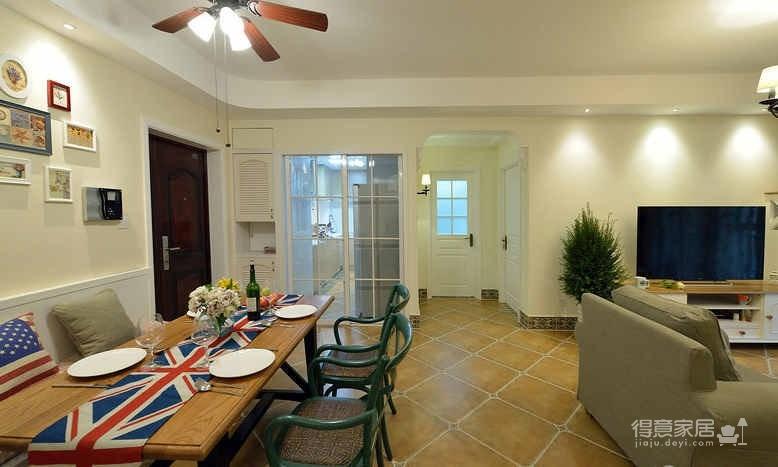 三室两厅两卫 现代混搭美式风格
