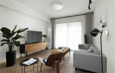 80平北欧风格设计 电视柜很有感觉