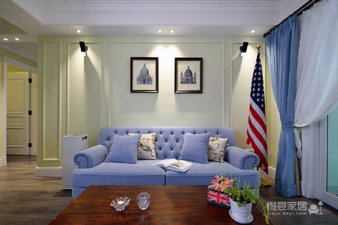 美式两居室  中国核建锦城 95平图_2