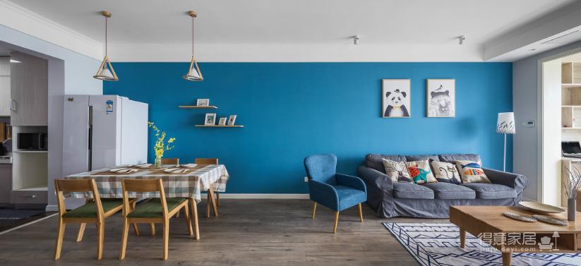 纯真一抹蓝,建筑设计师的家图_3