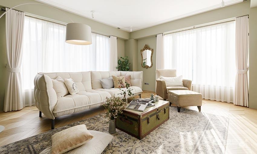 60平美式风loft,复古公寓的温馨感图_1