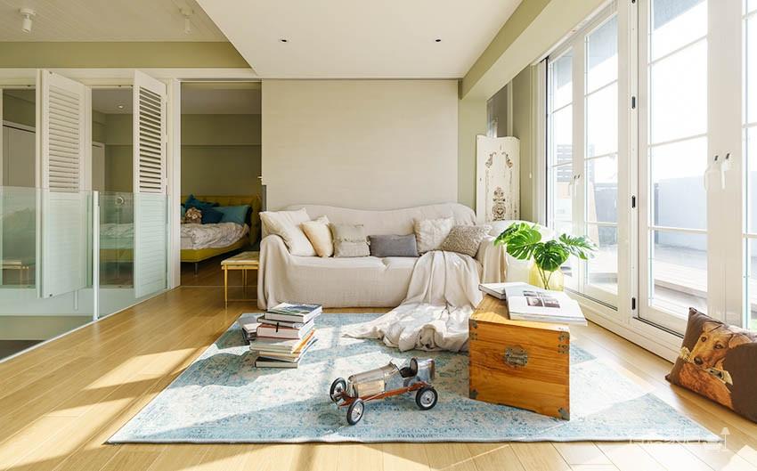 60平美式风loft,复古公寓的温馨感图_3