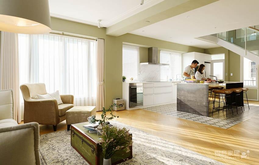 60平美式风loft,复古公寓的温馨感图_4
