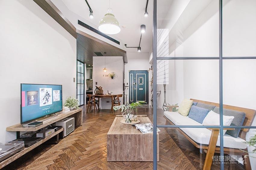 58平小居室,化身颜值收纳兼备的工业风图_5