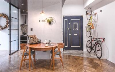 58平小居室,化身颜值收纳兼备的工业风