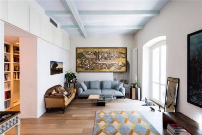 现代与复古结合的时尚公寓