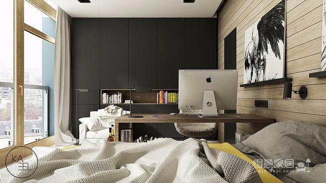 公寓玩味色彩强化质感图_5