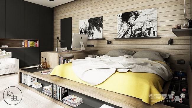 公寓玩味色彩强化质感图_3