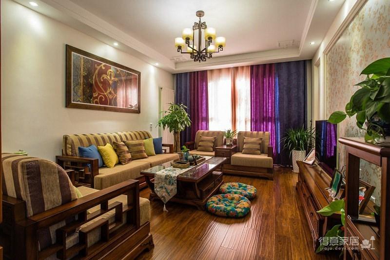 中式混搭 110㎡三房两厅,传统的美丽