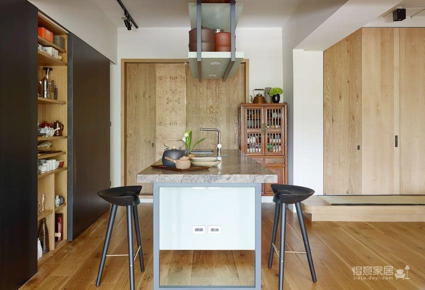 简约原木质感3居室,淡淡的禅意风