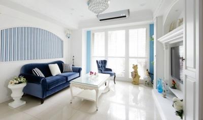 123㎡欧式三居室,古典纯白优雅风